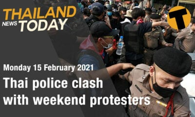 Thailand News Today | Thai police clash with weekend protesters | February 15 | Thaiger