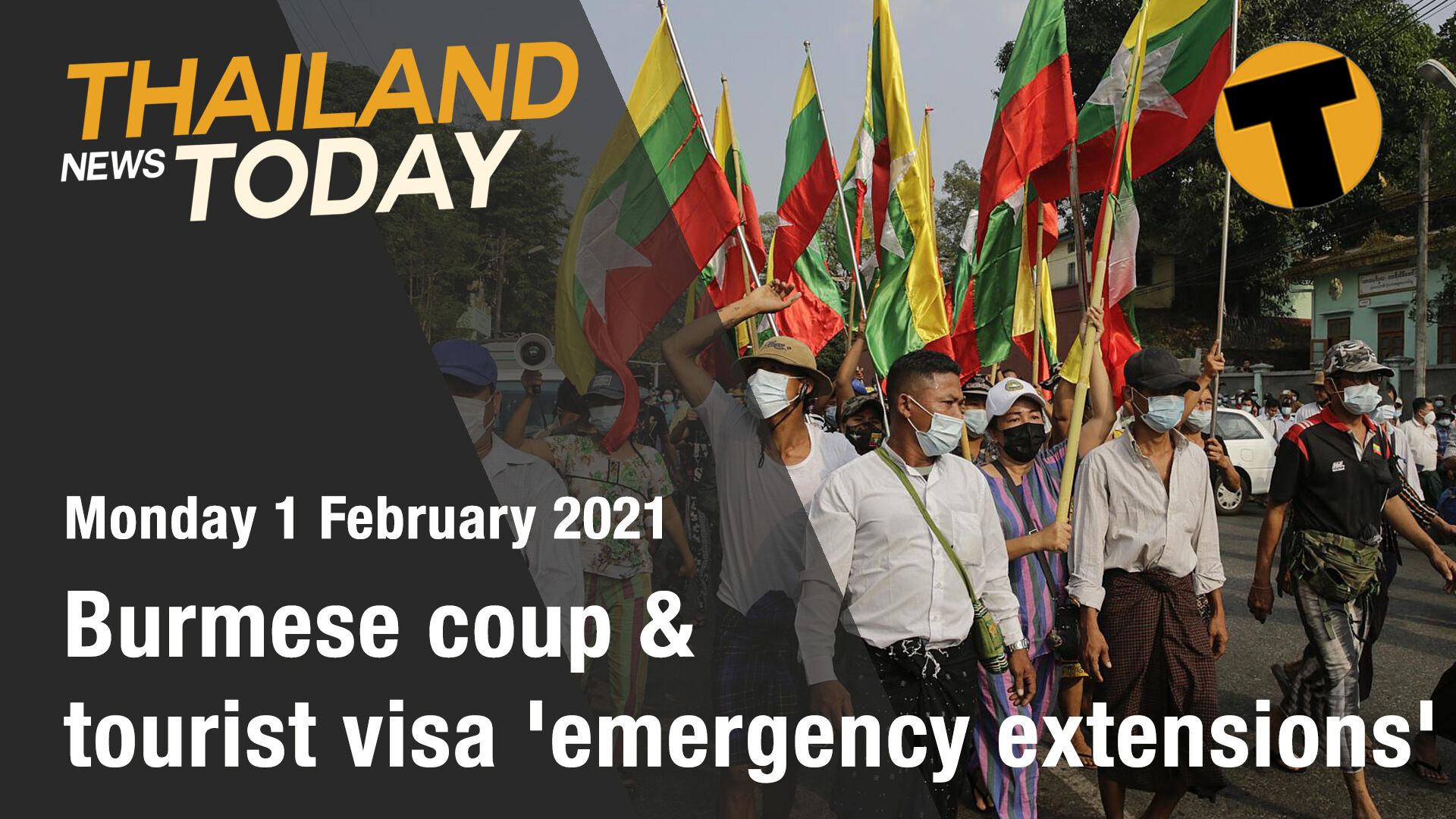 Thailand News Today | Burmese coup & tourist visa 'emergency extensions' | February 1 | The Thaiger