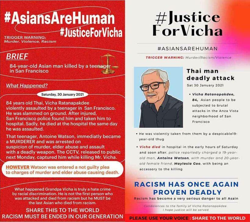 LA artist behind portrait of murdered Thai man condemns surge in racist violence | News by Thaiger