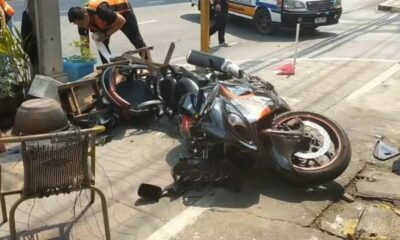 Foreign man and Thai woman injured in motorcycle accident | Thaiger