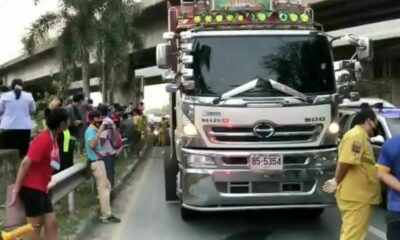Teenagers killed in motorbike accident with 18-wheel trailer truck in Chon Buri | Thaiger