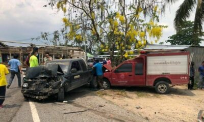 1 dead, 1 injured, 2 businesses damaged in 6-vehicle collision in eastern Thailand   Thaiger