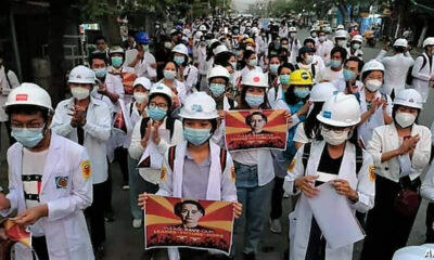 Myanmar's military releases 600 detainees after today's silent protest by anti-coup demonstrators   Thaiger