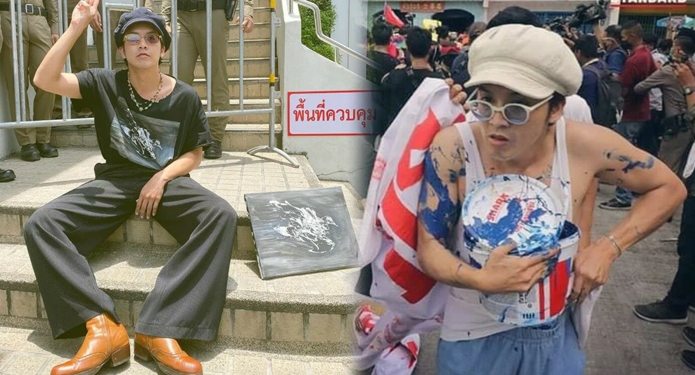 "Met police deny arresting Thai musician ""Ammy"" for setting fire to royal portrait 