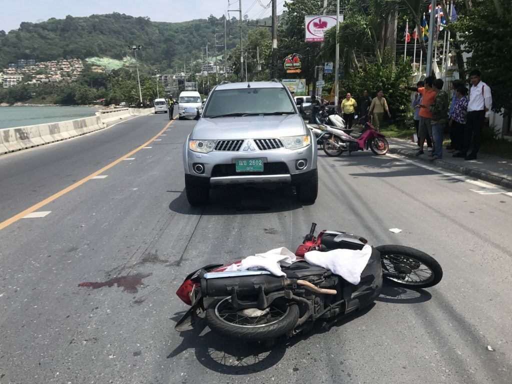 Most motorcycle accidents in Thailand involved cars cutting in front of traffic | Thaiger