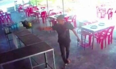 Police officer's son caught on camera firing shots at Thai restaurant | Thaiger