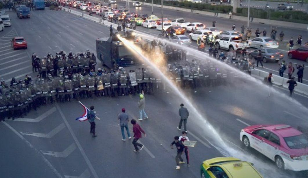 At least 22 people arrested at Bangkok protest, officer dies of heart failure | The Thaiger