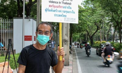 Group rallies outside US Embassy in Bangkok, calls for America to stop interfering in Thai politics | Thaiger
