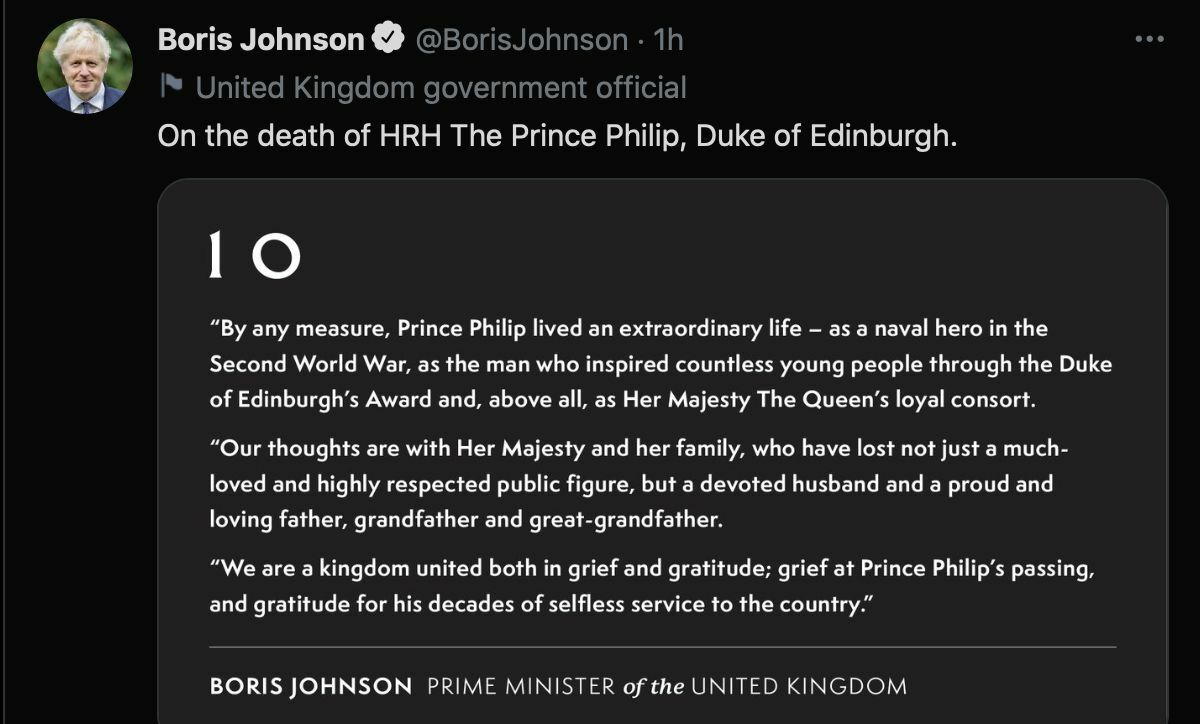 Buckingham Palace announces the death of Prince Philip | News by Thaiger