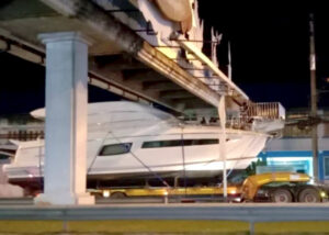 Footbridges stop luxury yacht travelling from Phuket to Samui | Thaiger