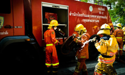 Firefighters' bodies retrieved, 100,000 baht to families | Thaiger