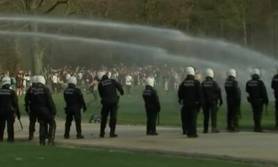 Belgian police clash with Covid-19-flaunting park crowd | Thaiger