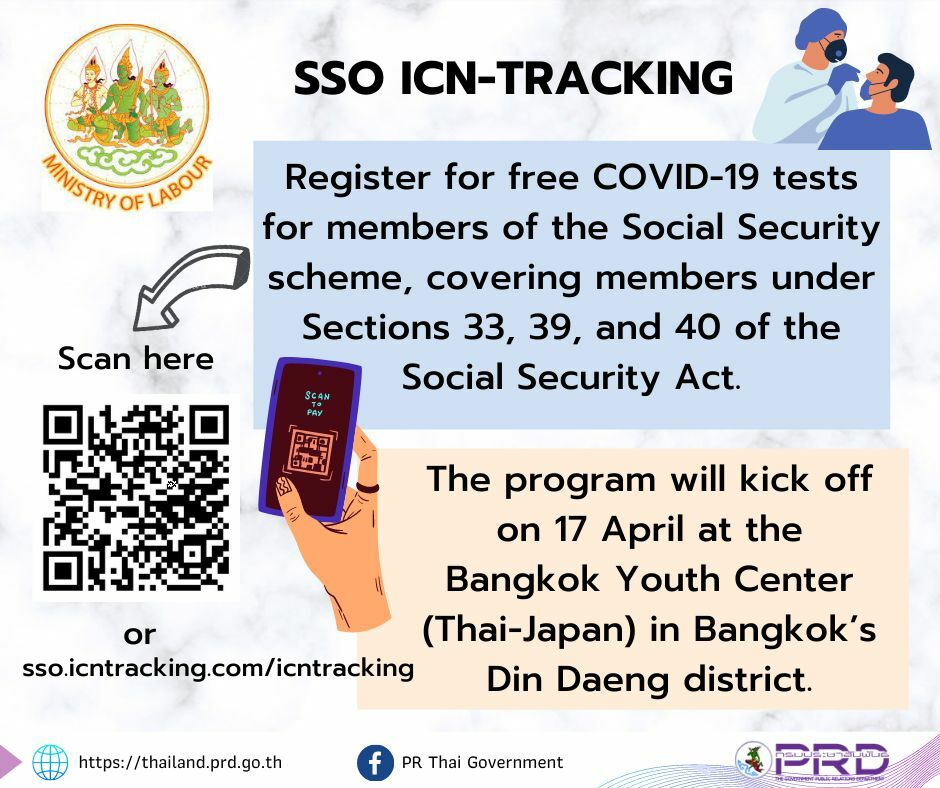 At-risk Social Security members can get free Covid tests from tomorrow in Bangkok | News by Thaiger