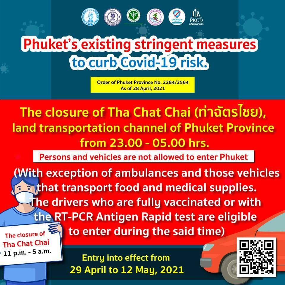 Phuket to close land border from 11pm to 5am each day, essential travel only | News by Thaiger