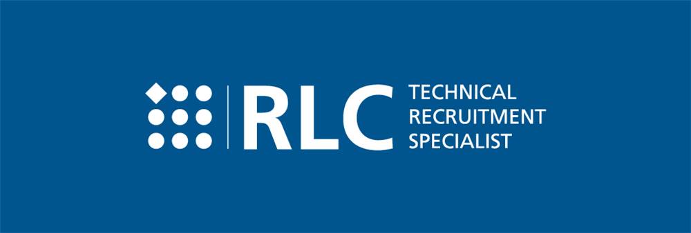 RLC's Logo. Blue and White.
