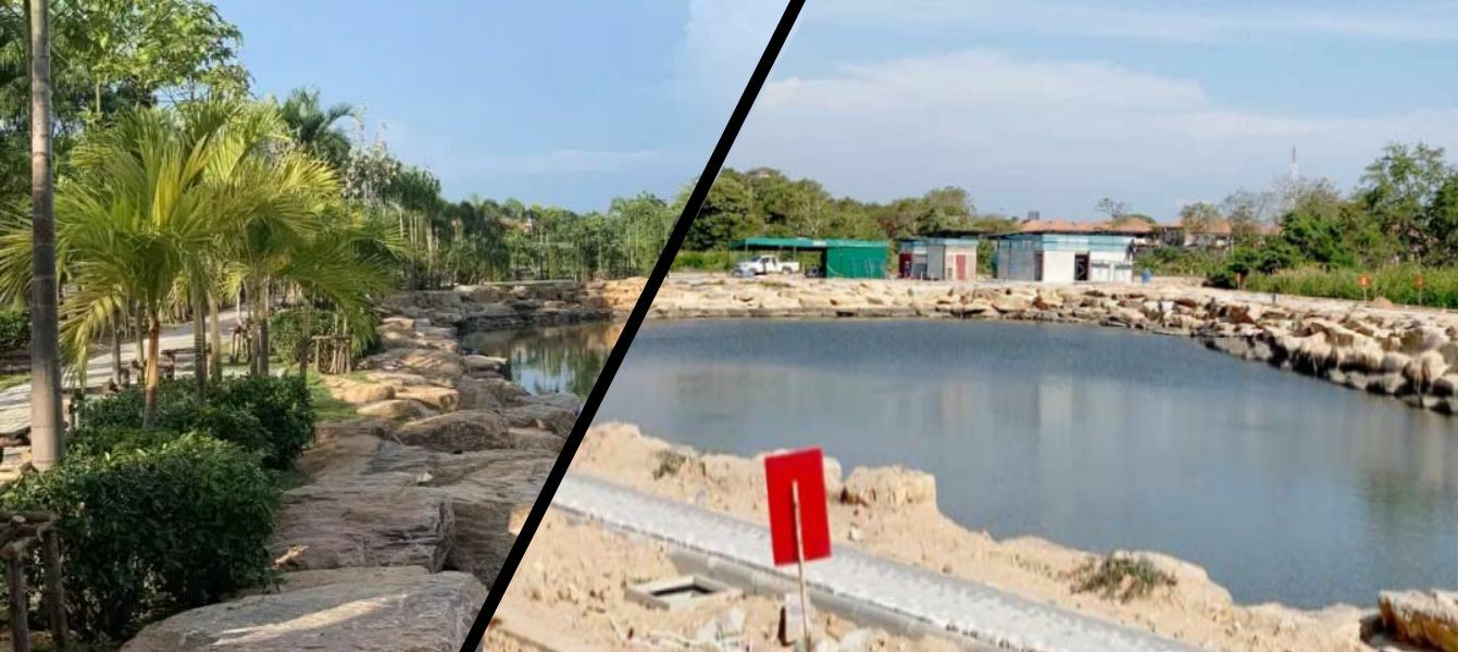 Nong Pong, a new lagoon park nearing completion in Pattaya