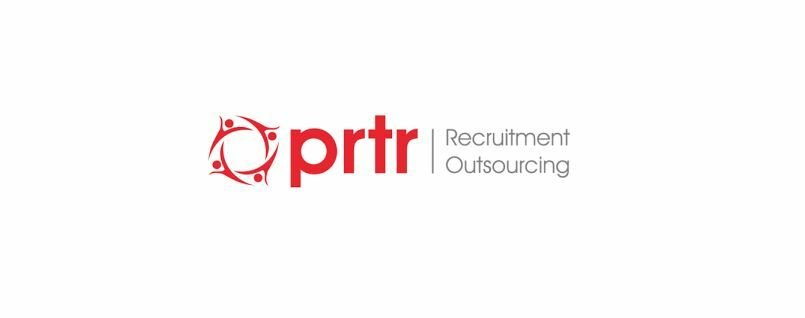 PRTR Logo. Red and White.