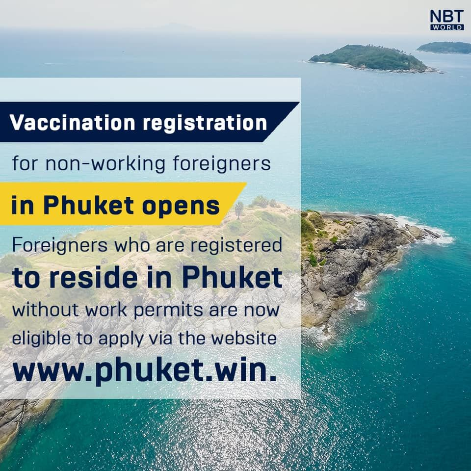 Expats in Phuket without a work permit can register for a Covid-19 vaccine   News by Thaiger