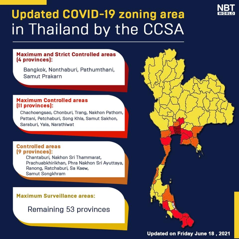 Colour-coded zoning revised, restrictions to ease nationwide   News by Thaiger