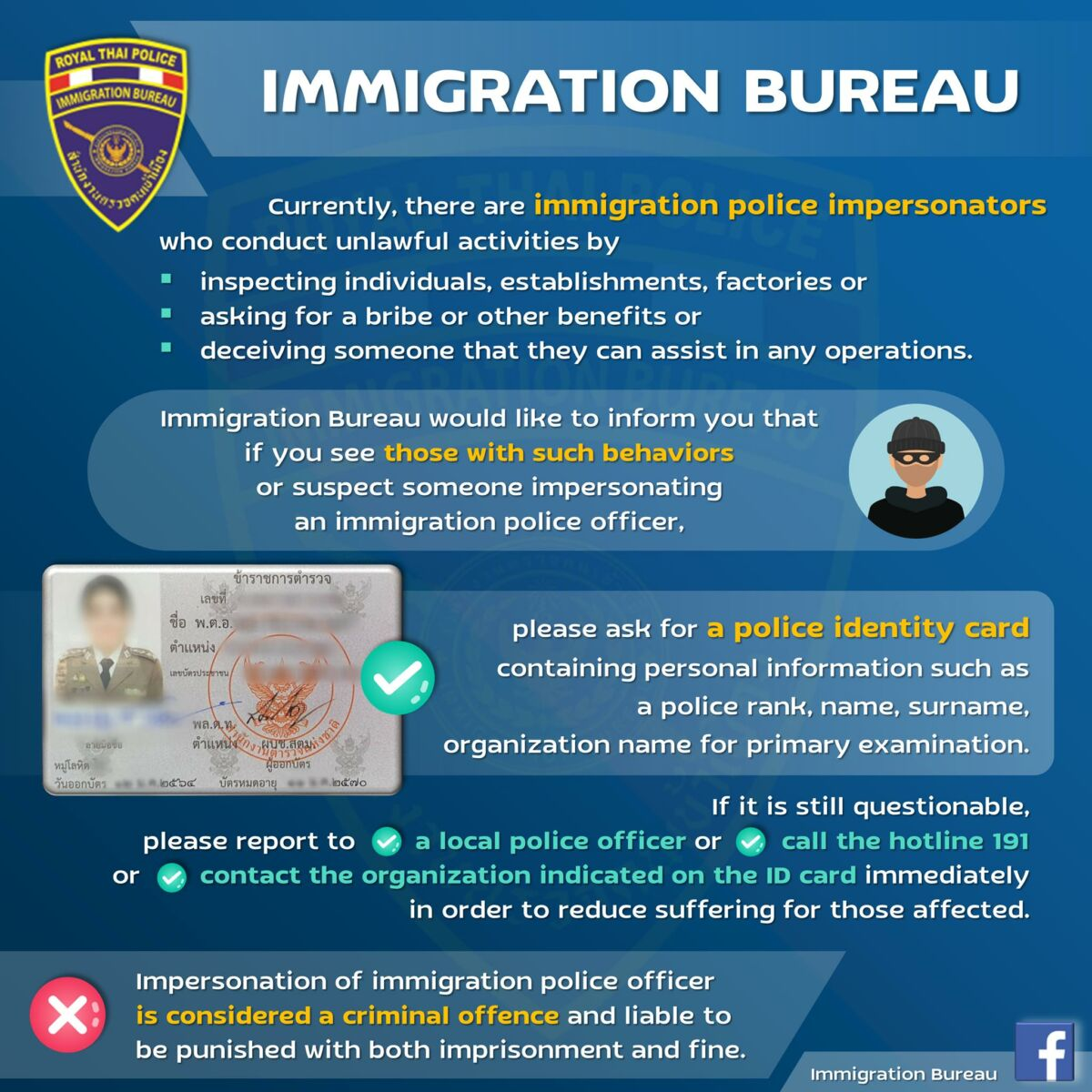 Public warned about immigration police impersonators asking for bribes | News by Thaiger