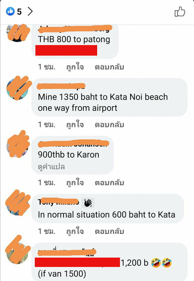 """Phuket reviews taxi rates after """"Sandbox"""" tourists report high prices 