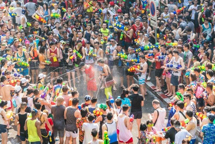 Songkran - water fight