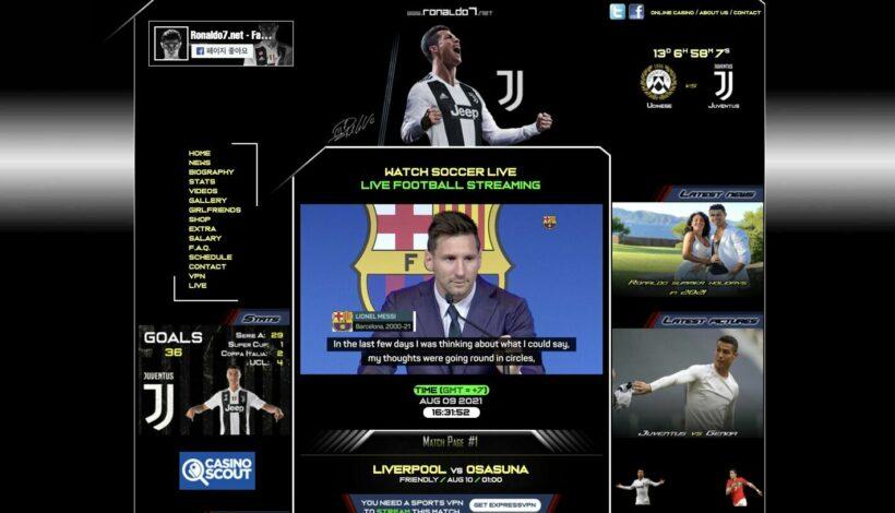 Ronaldo7 - streaming service