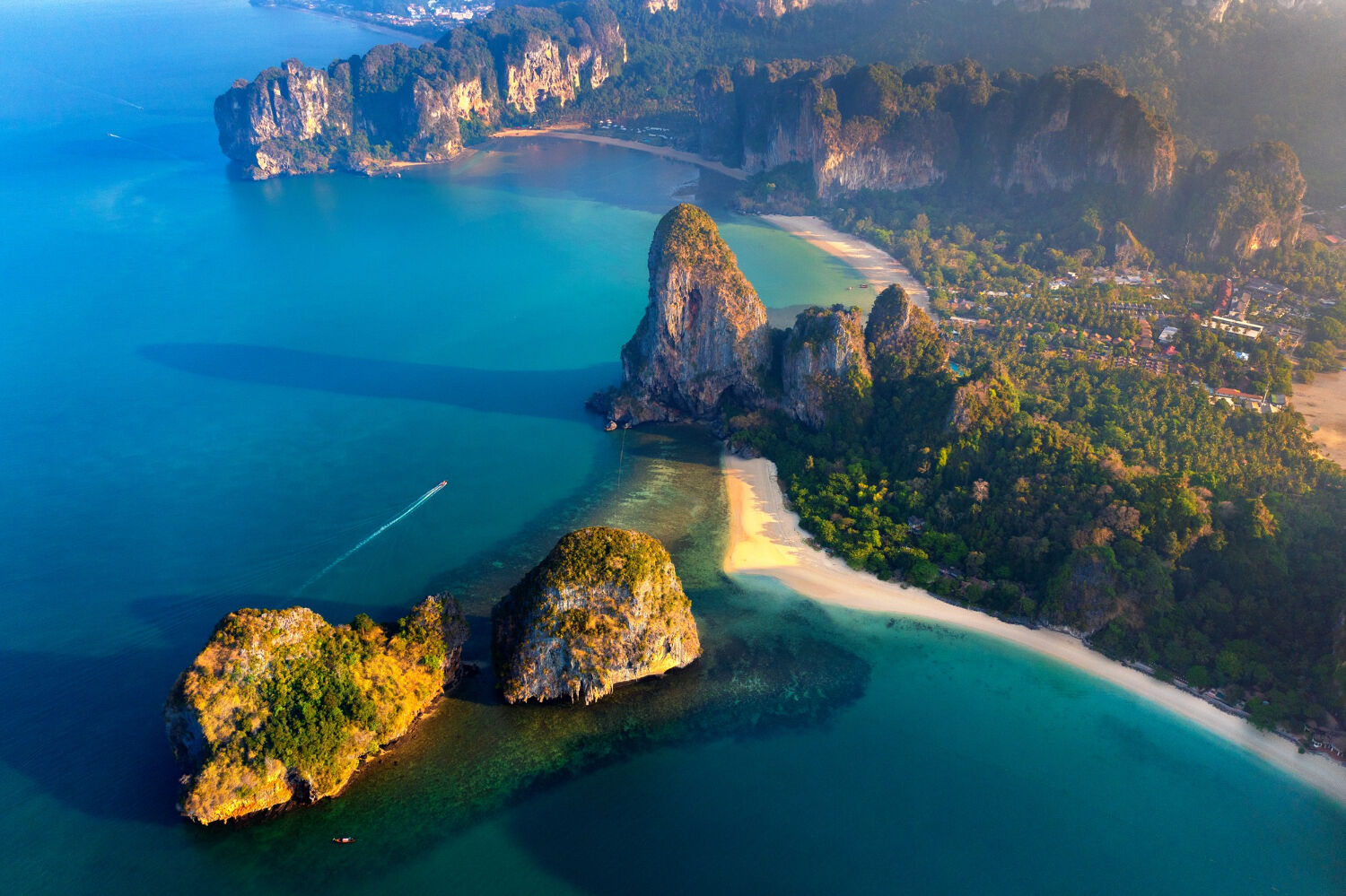 PHOTO: Aerial view of Railay in Krabi by tawatchai07 from freepik.