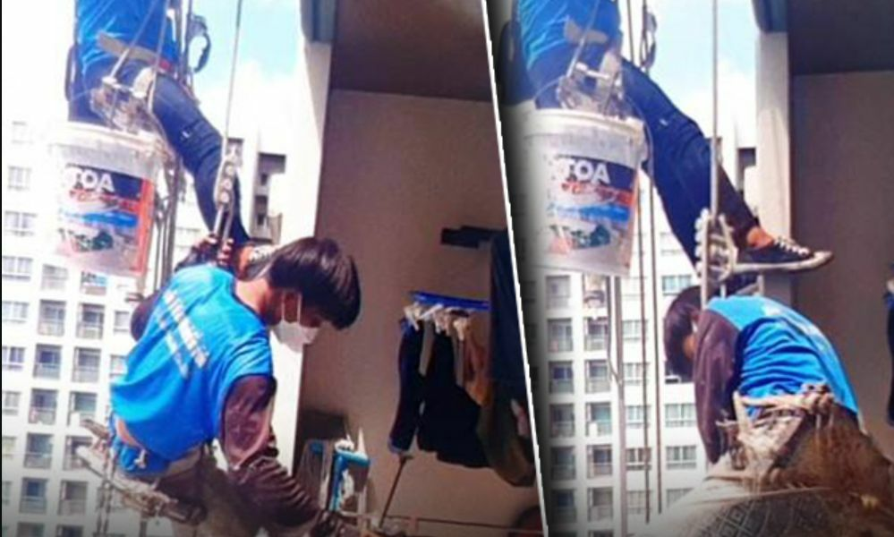 Woman in Thailand High-Rise Condo Cuts Rope Holding Two Painters 26 Floors High